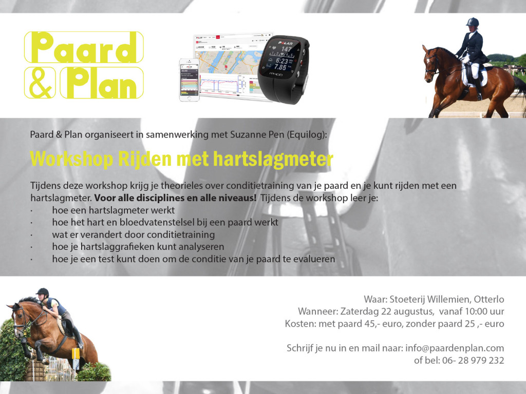 Hartslagmeter paard workshop